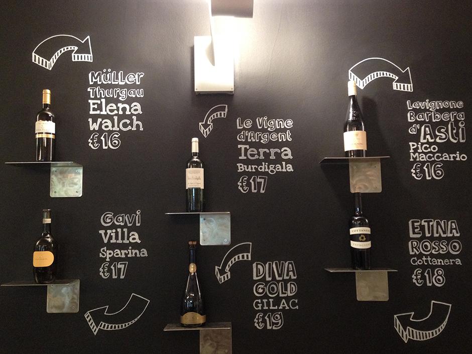 lavagna vini marechiaro
