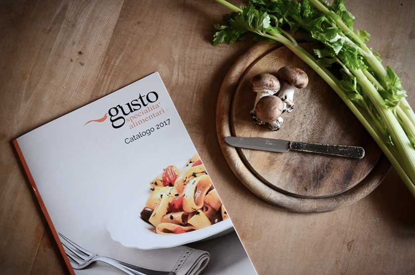 Front cove food catalogue 2017 Gusto e C.